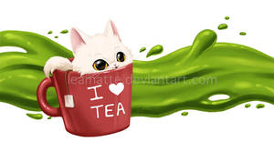 Tea cat by leamatte