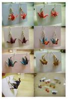 washi crane earrings FOR SALE by fresh4u