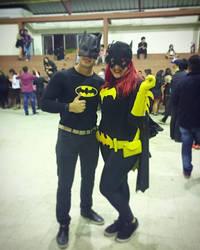 Batgirl and Batman by Luaaa