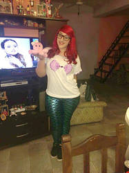 The little mermaid Hipster by Luaaa