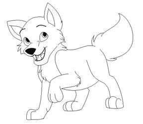 Wolf Cub Lineart -- FTU by MizanLinearts