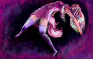 My unamed rainbow cat girl oc by Imprimez