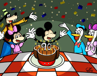 Happy Birthday Mickey! by charlieartsy