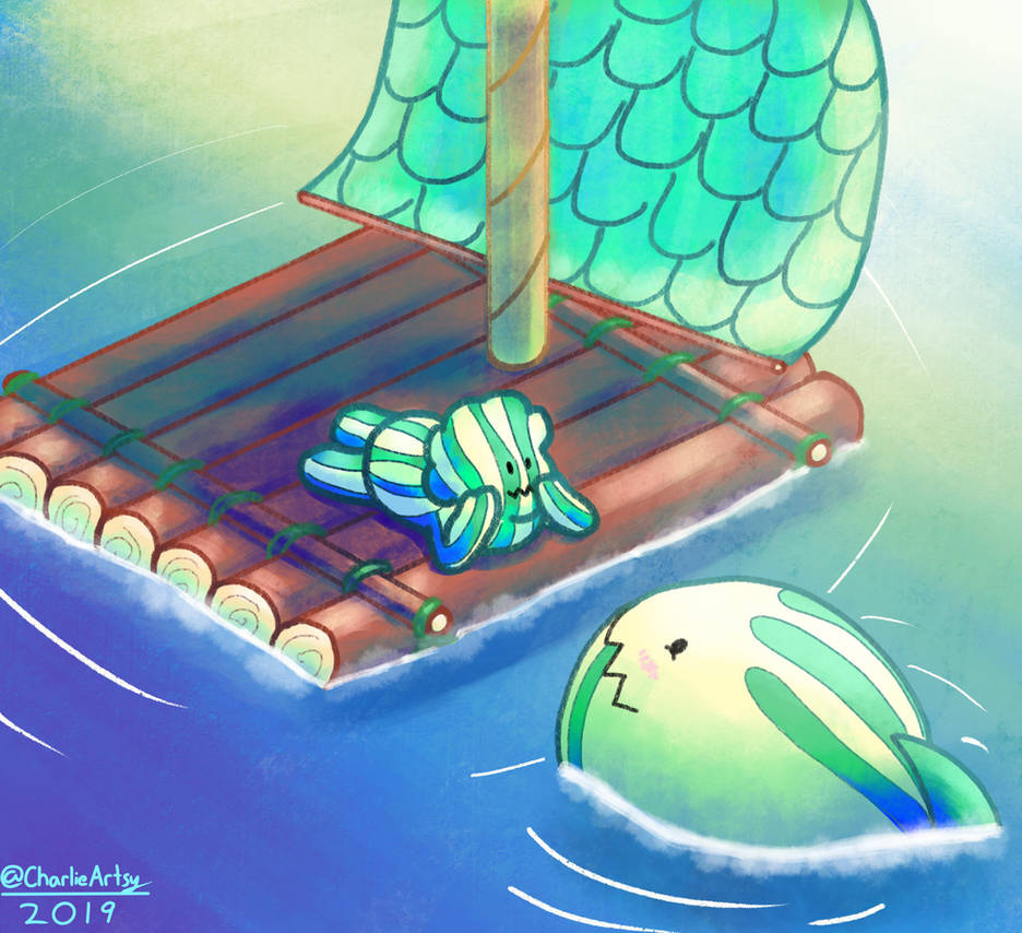 That cute watermelon shark in Escapism