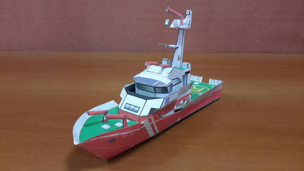 Fireboat Papercraft by Mironius