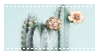 Pastel Mint Cactus - Stamp by candlelit-deco