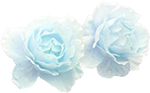 Pastel Blue Rose - Deco by candlelit-deco