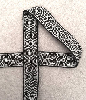 Tablet Woven Band in Black and Silver by FireflySongs