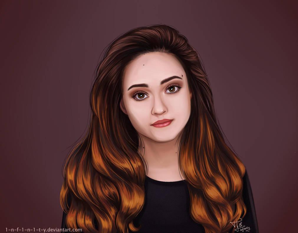 Portrait of a 'fiery' girl by 1NFIN1TY
