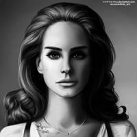 Lana Del Rey in black'n'white by 1NFIN1TY