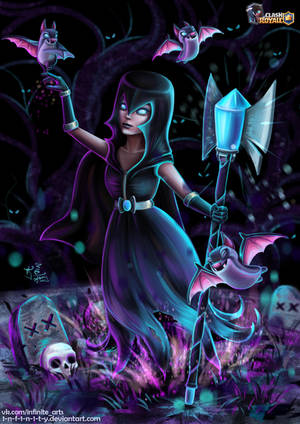 NIGHT WITCH (Clash Royale fanart) by 1NFIN1TY