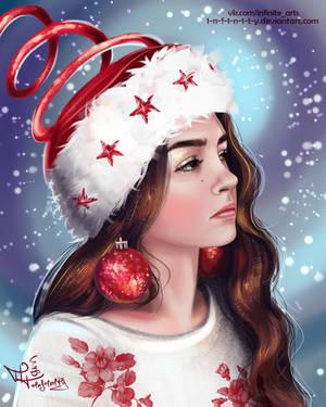 MY SNOWY PORTRAIT by 1NFIN1TY