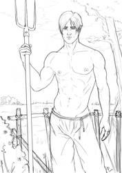 Kurtis shirtless by Kikinho90
