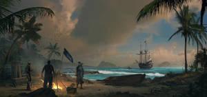 Assassin's Creed IV Black Flag_Fan-art by SergeyZabelin
