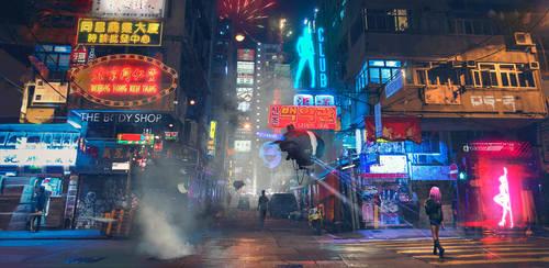 Hong Kong Street Patrol by SergeyZabelin
