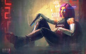 Cyber Girl. Neorun by SergeyZabelin