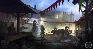 Medieval Market by SergeyZabelin