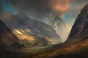 Valley Sunset by SergeyZabelin