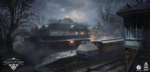 Cradle of Links VR. Concept Train station by SergeyZabelin