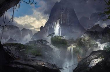 Waterfall by SergeyZabelin