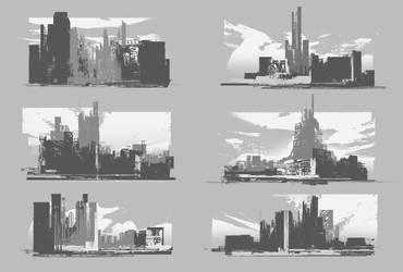 City Quick Sketch by SergeyZabelin