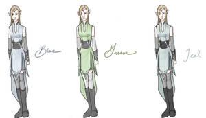 Elven Warrior Maiden Designs by Reine-Haru