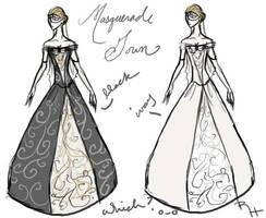 Masquerade Gown Designs by Reine-Haru