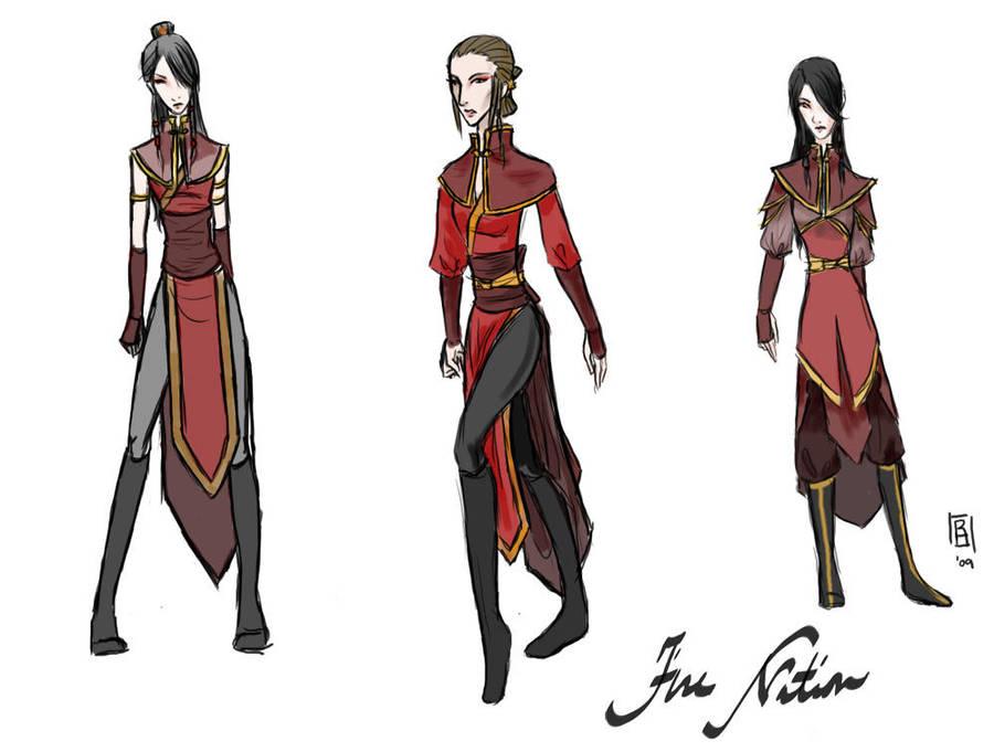 Fire Nation Designs by Reine-Haru