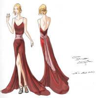 Crimson Gown Design by Reine-Haru