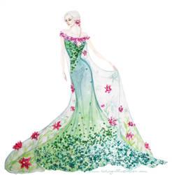 Spring Elsa by Reine-Haru