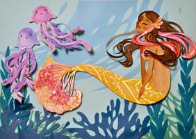 Tropical Mermaid by Reine-Haru