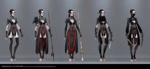 Dragon Age 2 Elf Costumes by joy-ang
