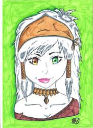 Diadess Jade Jewel's face by DiadessJewel