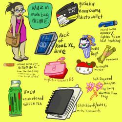 what's in my bag meme by ufotrash