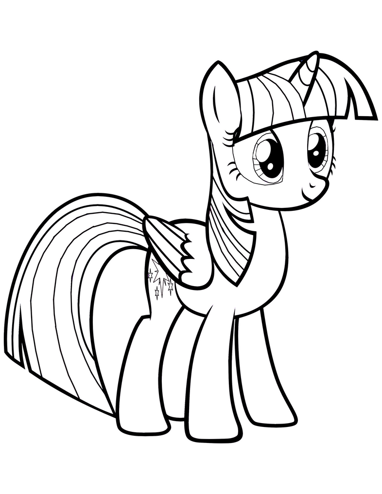 Twilight Sparkle Alicorn Coloring Page by Mrowymowy on ...