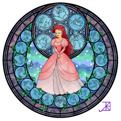 Ariel Stained Glass by Akili-Amethyst