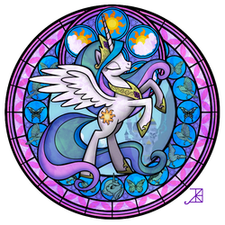 Celestia Stained Glass by Akili-Amethyst