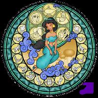 Stained Glass: Jasmine -take 3- by Akili-Amethyst
