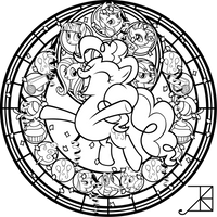 SG: Pinkie Pie: coloring page by Akili-Amethyst