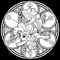 Rainbow Friendship Pinkie Pie -lineart- by Akili-Amethyst