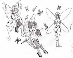 Faerie sketches by VeXeDZERO