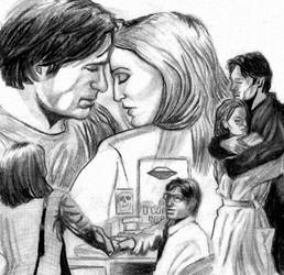Mulder and Scully by YoSafBridge