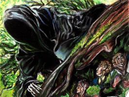 Hobbits and Ringwraith by YoSafBridge