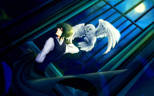 white owl and his wizard by mizato