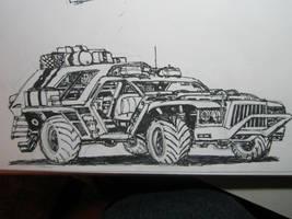 Mad Max style truck by Oozygoblin