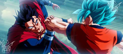 Superman vs. Son Goku by EverlastingDarkness5