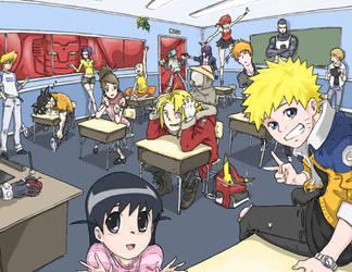 Anime School by HellWingz