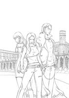 Vampire Academy cover inks by emmav