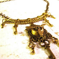 Steampunk Bellydance Necklace by Om-Society