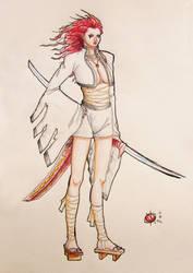 Girl Colored by Ixopyxos